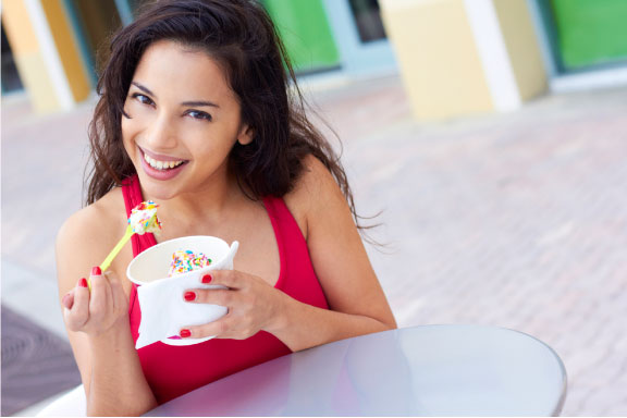 Enjoy a bowl of healthy, all-natural frozen yogurt